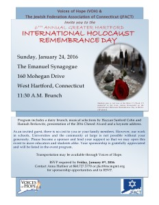International Holocaust Rememberance Day 2016 @ The Emanuel Synogogue