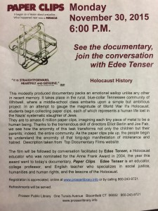 Paper Clips: See the documentary and join the conversation @ Prosser Public Library | East Granby | Connecticut | United States