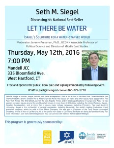Seth Siegel: Let There Be Water @ Mandell JCC